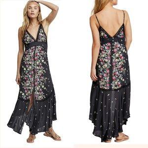 Free People Paradise Floral Print Maxi Dress SizeM